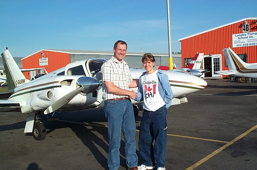 Matt Edwards and Jayson Dudas.  Langley Flying School.