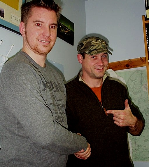Alex Tremblay with Flight Instructor Philip Craig.  Langley Flying School