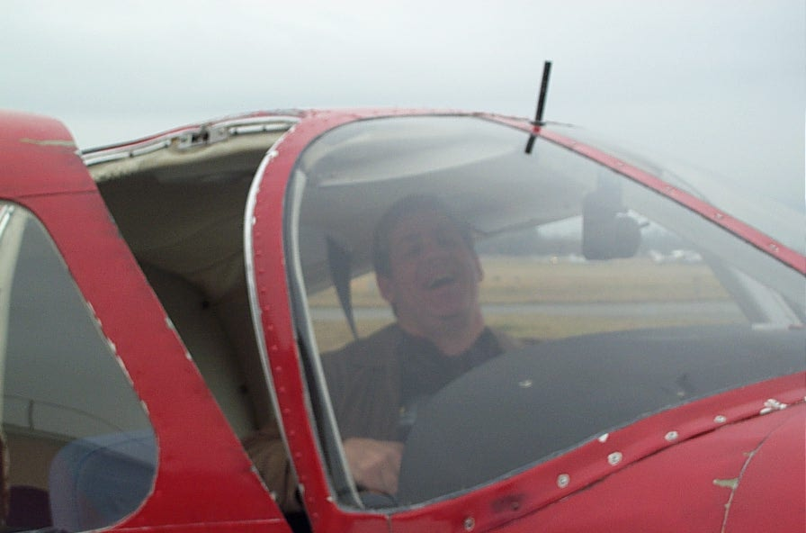 Joel Schacter in Cherokee FKKF after the completion of his First Solo Flight on January 17, 2008.  Langley Flying School