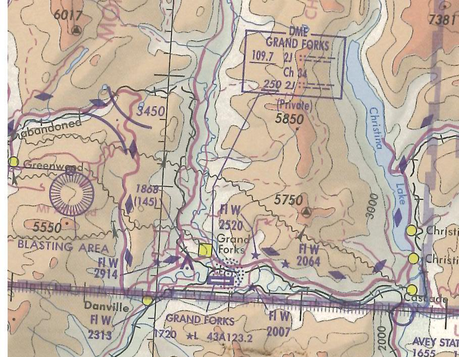 Grand Fork, Langley Flying School's Map Room
