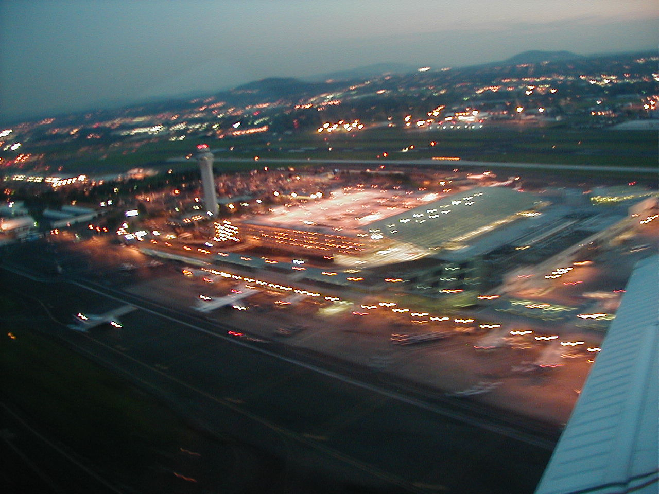 Twilight Departure from Portland International Airport, Langley Flying School