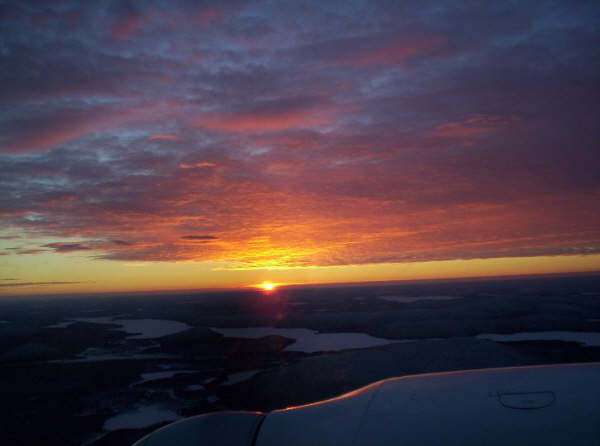 Piper Navajo over Saskatchewan. Pilot: David Woollam