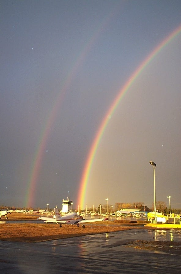 Rainbow at Langley Airport, Langley Flying School.