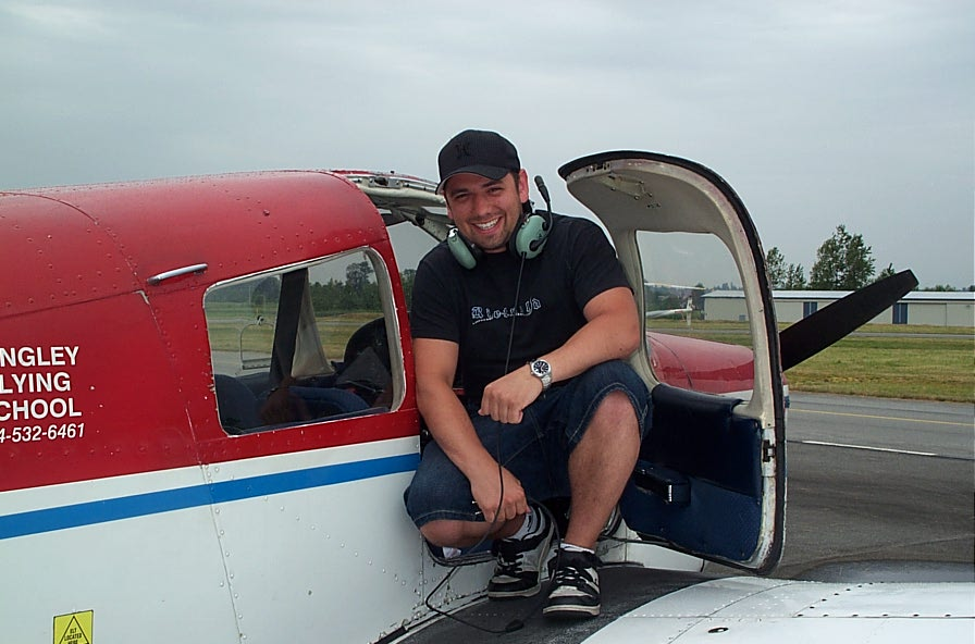 Matt Malamas, First Solo Flight, Langley Flying School.