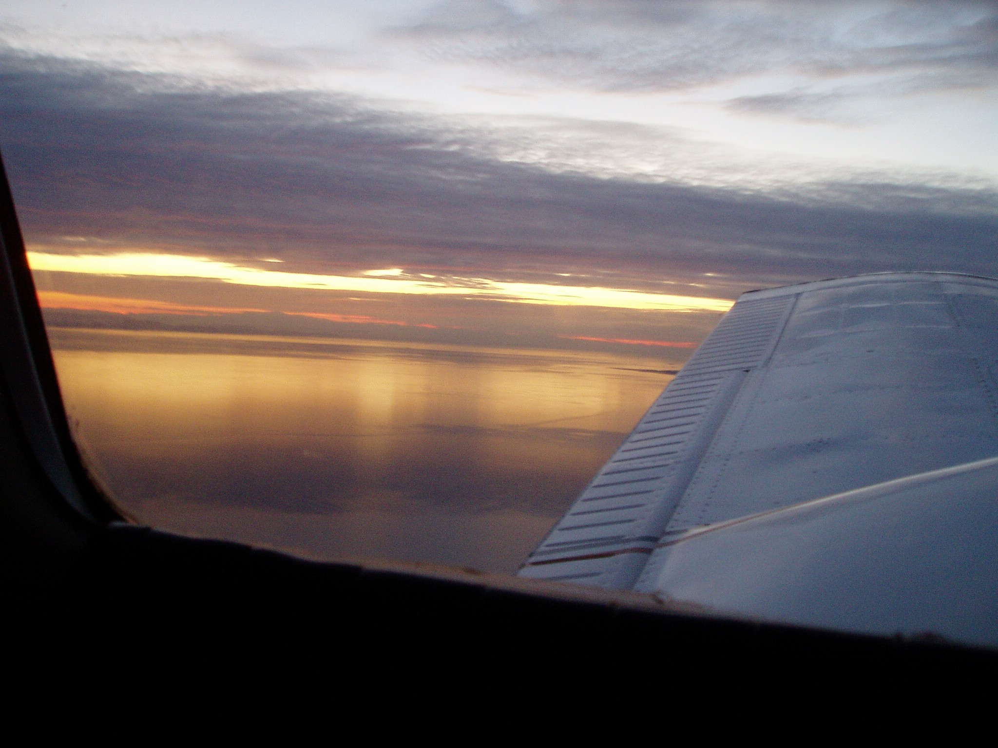 Sunset over the Georgia Strait, Langley Flying School
