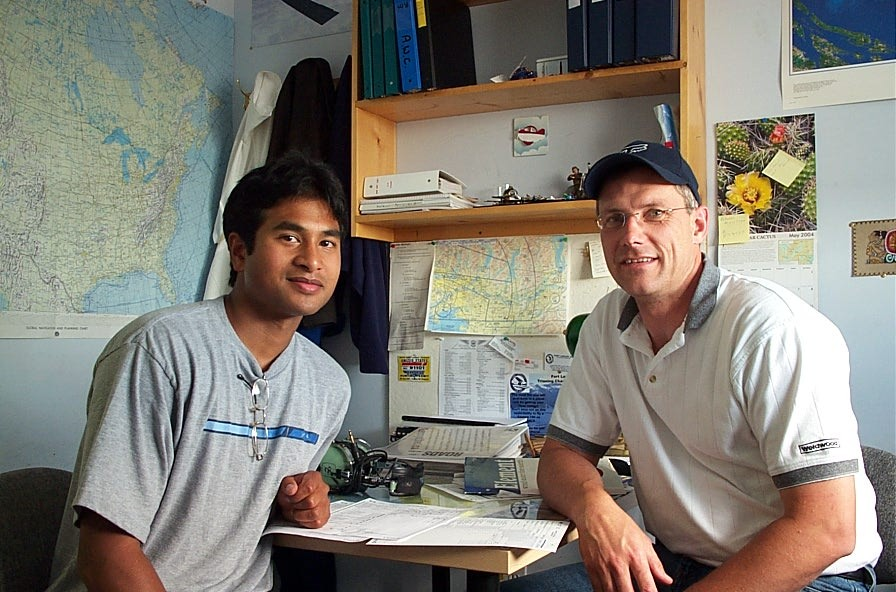 Commercial Pilot Graduate with Pilot Examiner Matt Edwards.  Langley Flying School.